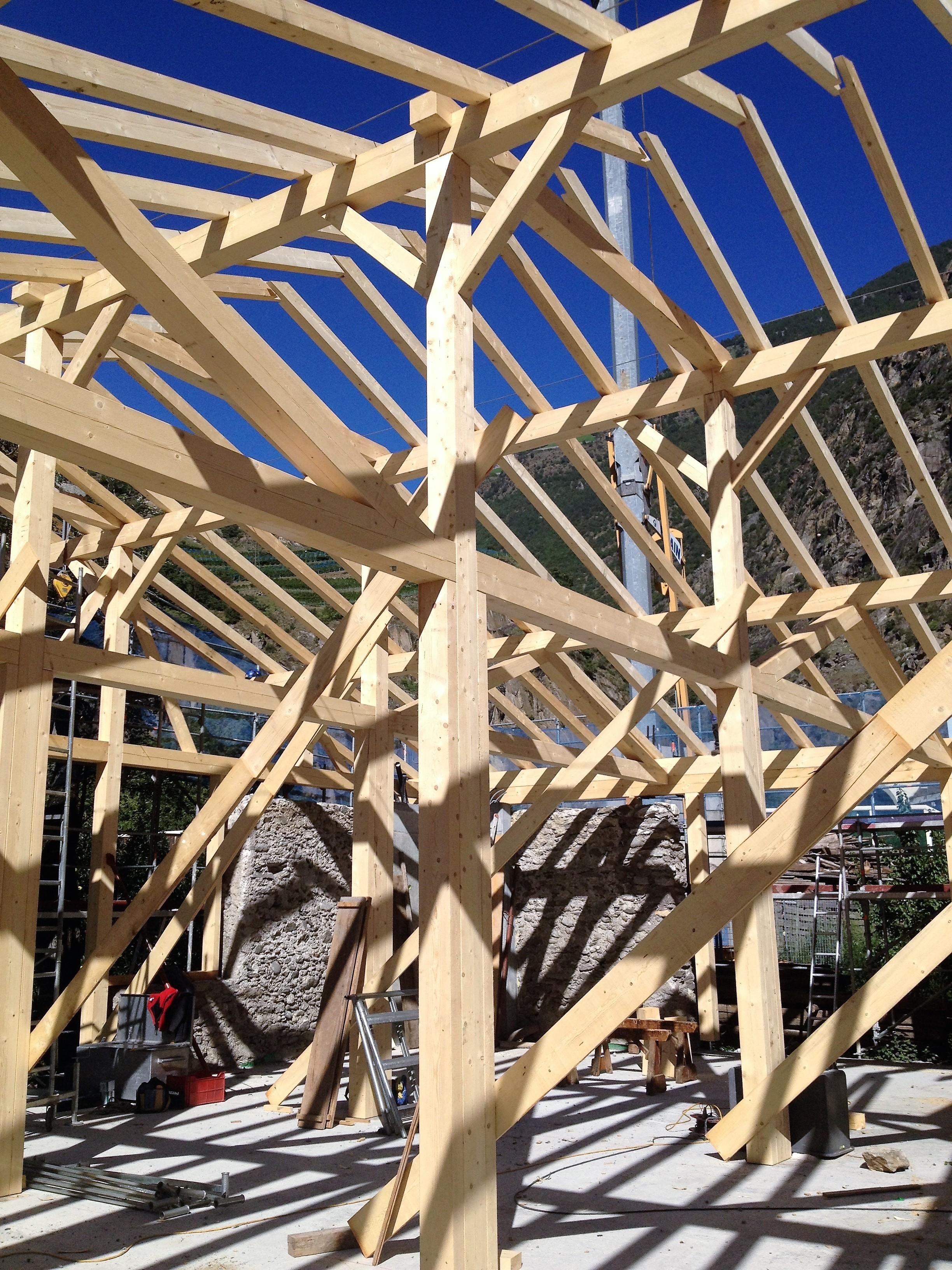 maso steghof - riqualificazione studio Agnelli Arch Bampi struttura lignea